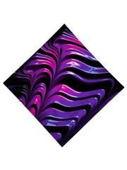 Trippy Gratefully Dyed Apparel purple paint wave bandana flat view.