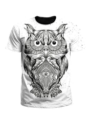 Wise One White Owl Unisex T-Shirt