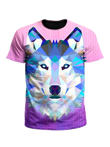 Wolf Within Geometric Animal Unisex T-Shirt