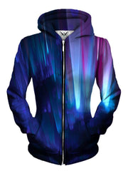 Beautiful Northern Lights Womens Zip Up