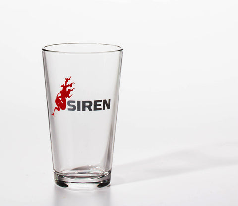 Siren Bicycles Pint Glass