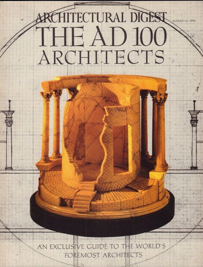 Architectural Digest August 15 1991 Thomas Jefferson, Temple of Vesta 021617DBE