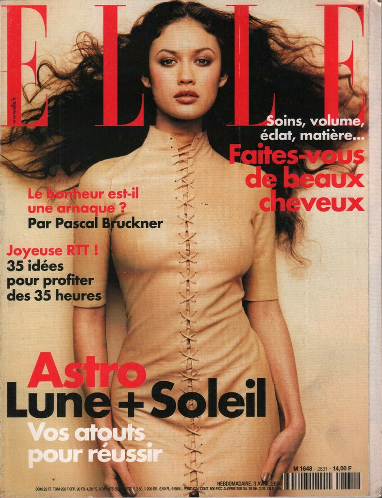 Elle French Fashion Magazine 3 Avril 2000 Pascal Bruckner 091819AME