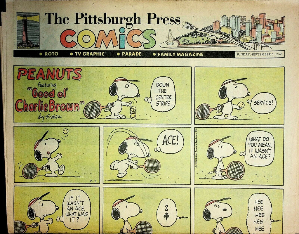 The Pittsburgh Press Comics September 3 1978 Peanuts Batman Superman 021220AME