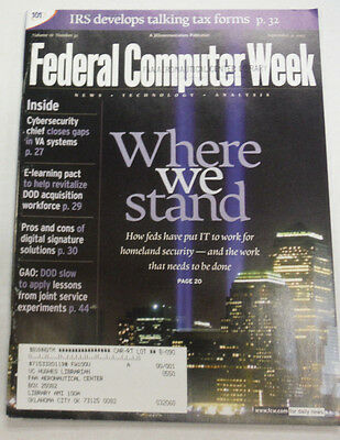 Federal Computer Week Magazine How Feds Use IT September 2002 071515R