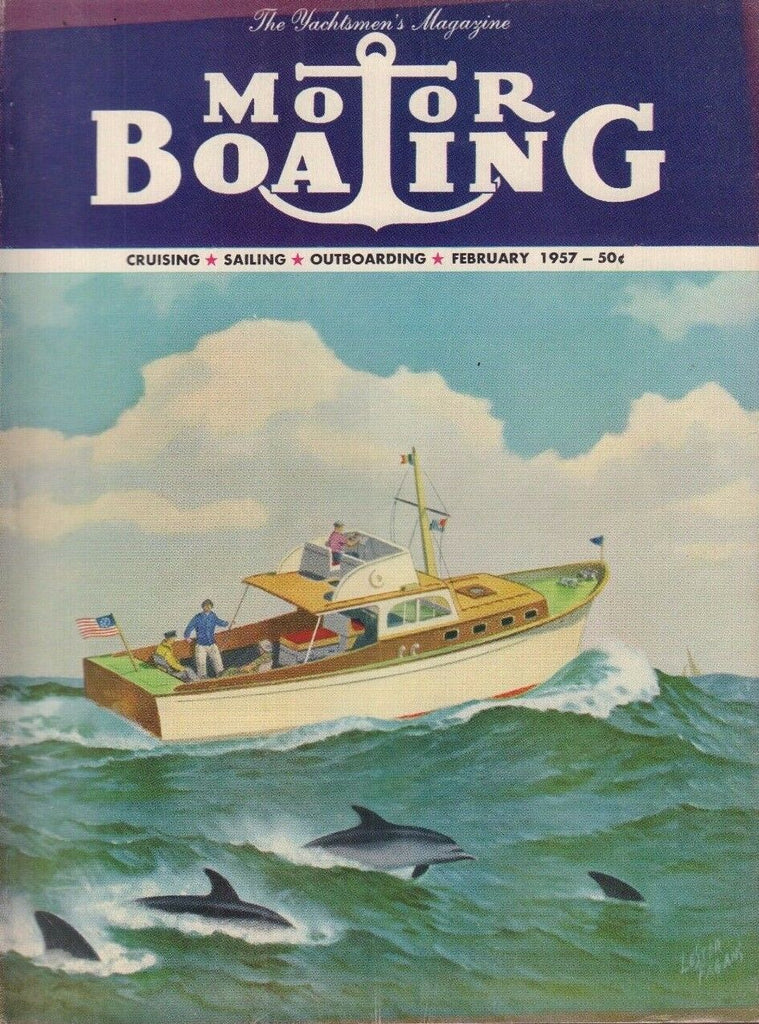Motor Boating February 1957 Pauline B, The Call, Out at Sea 042817nonDBE2