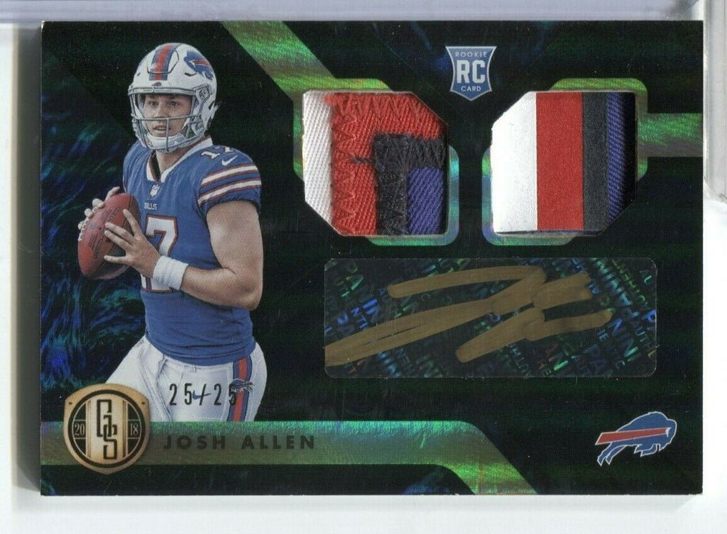 Josh Allen Buffalo Bills RC Jersey Signed Card 25/25 GS #245 Panini 120619DBCD