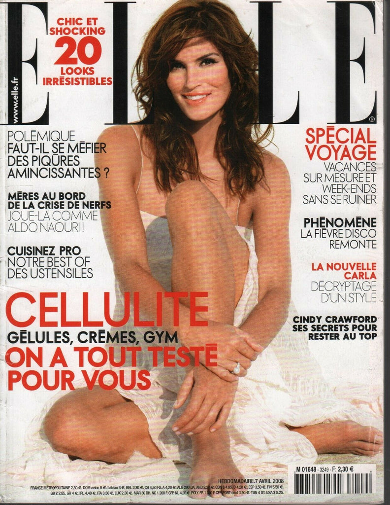 Elle Fench Fashion Magazine 7 Avril 2008 Cindy Crawford 092719AME