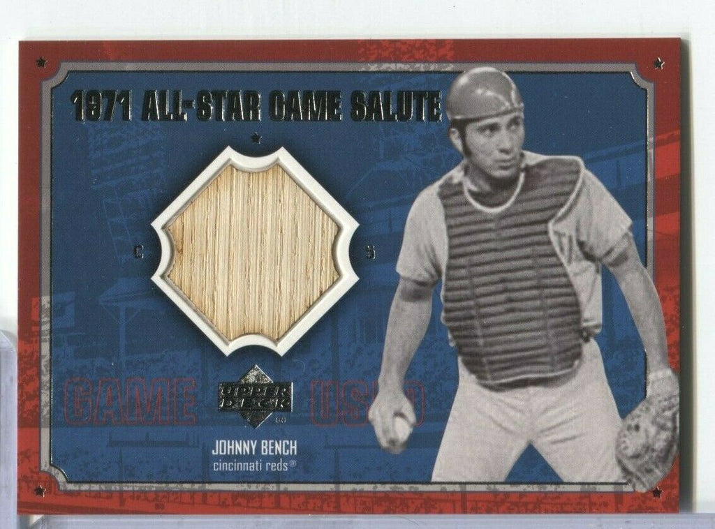 Johnny Bench Reds Game Used Bat 1971 All-Star Game AS-JB (B) UD '01 100219DBCD2