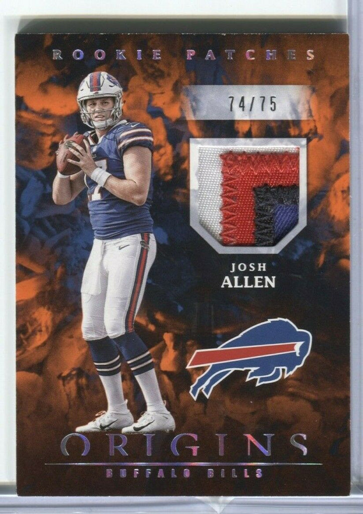 Josh Allen Buffalo Bills Rookie Patches 74/75 RP-4 Panini 011320DBCD