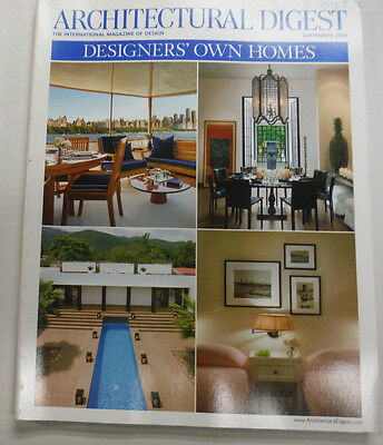 Architectural Digest Magazine Designers' Own Homes September 2008 063015R2