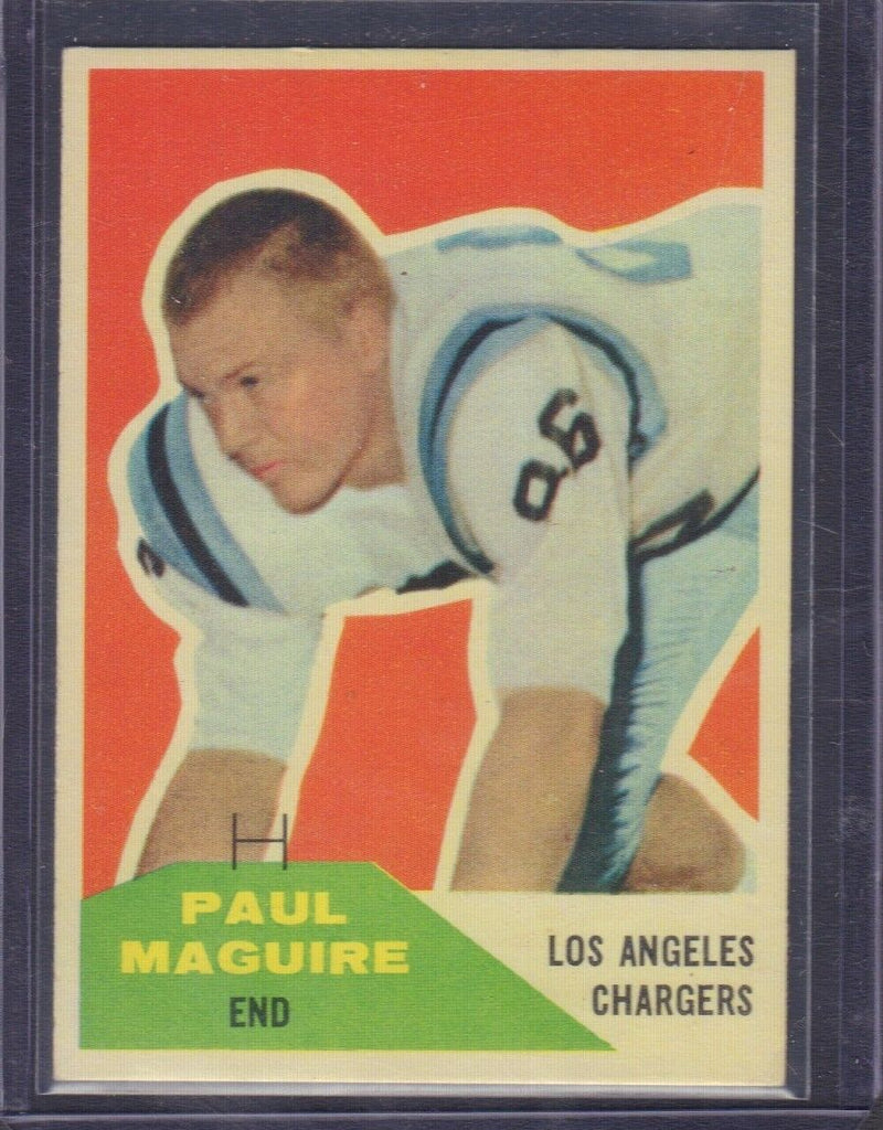 Paul Macguire RC Los Angeles Chargers 1960 Fleer #128 010519DBCD