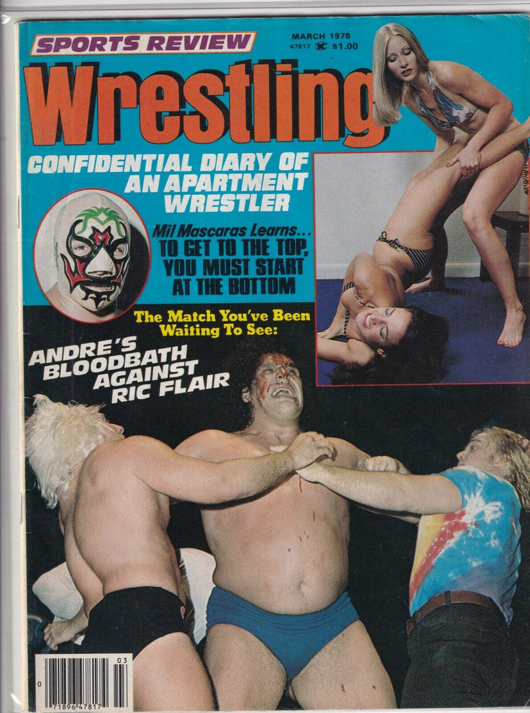Sports Review Wrestling Andre The Giant Mil Mascaras March 1978 090919nonr