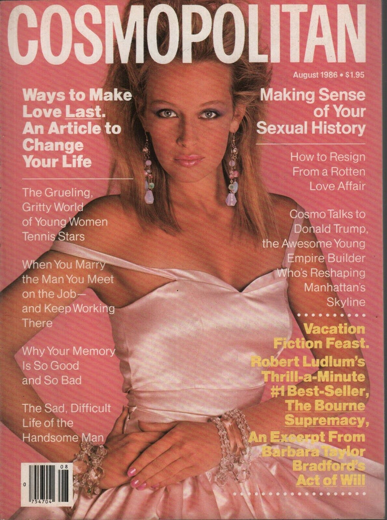 Cosmopolitan Magazine August 1986 Robert Ludlum Donald Trump Estelle 080819AME2