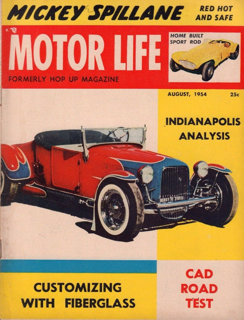 Motor Life August 1954 Frank Rose Ford T Bay Area Bomb 052417nonDBE