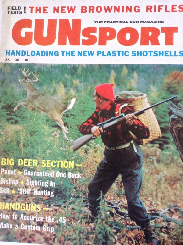 GunSport Magazine Big Deer, Plastic Shotshells January 1961 090217nonrh