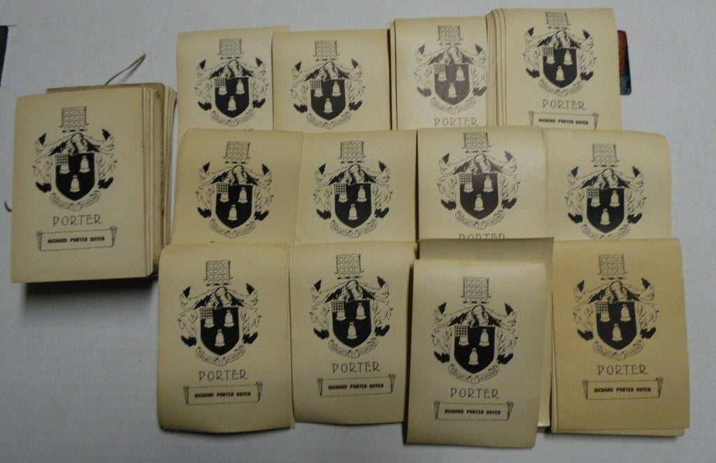 Richard Porter Boyer Early 1900's Book Plates, Approximately 700 Count 030118DBT