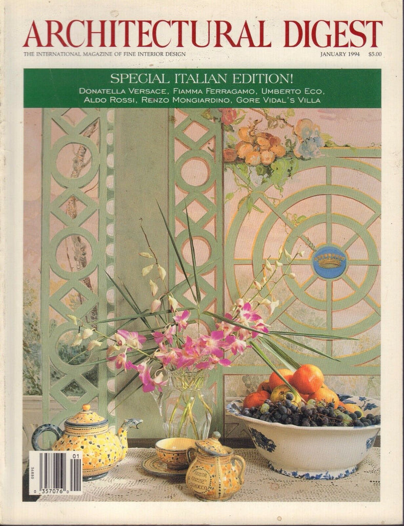 Architectural Digest Magazine January 1994 Italian Edition 082517nonjhe