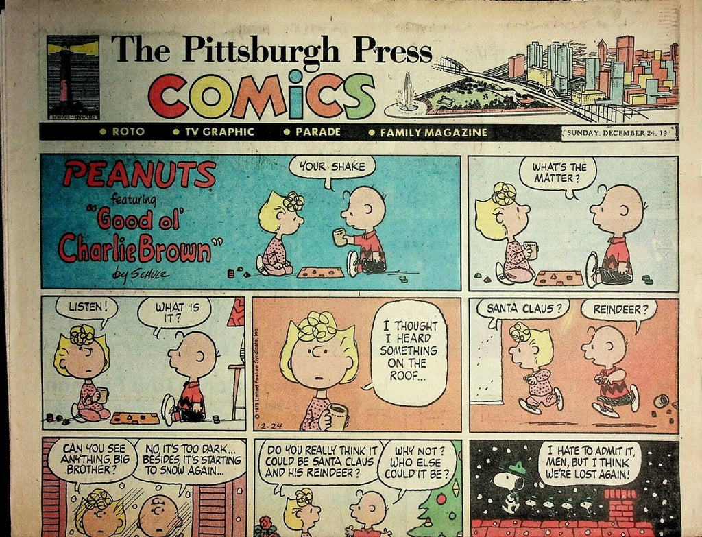 The Pittsburgh Press Comics December 24 1978 Peanuts Batman Superman 021220AME