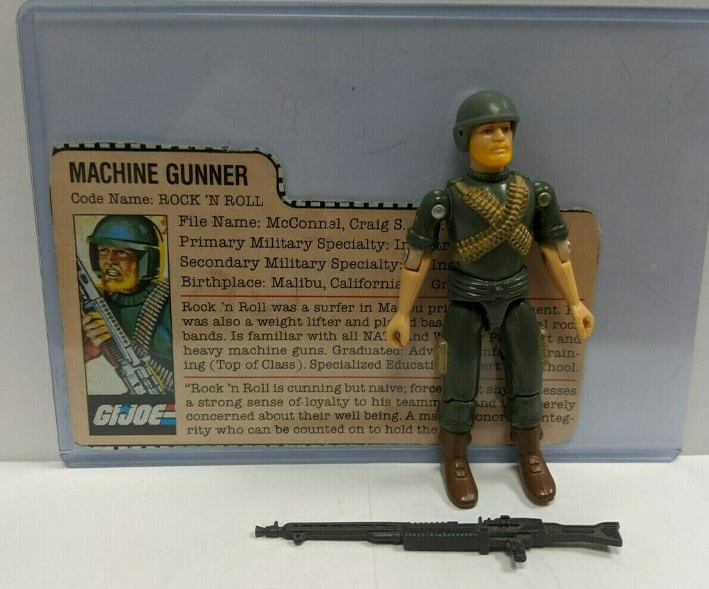 Rock 'N Roll V1 1982 GI Joe 3.75 Figure Complete w/File Card 101519DBT4