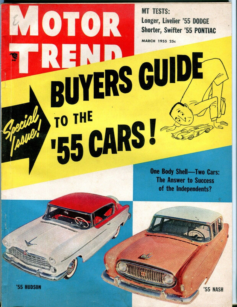 Motor Trend Magazine March 1955 Hudson Nash EX No ML 052117nonjhe