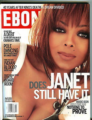 Ebony Magazine April 2008 Janet Jackson EX 080116jhe