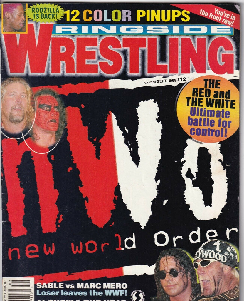 Ringside Wrestling Magazine Sting Hulk Hogan September 1998 050619nonr