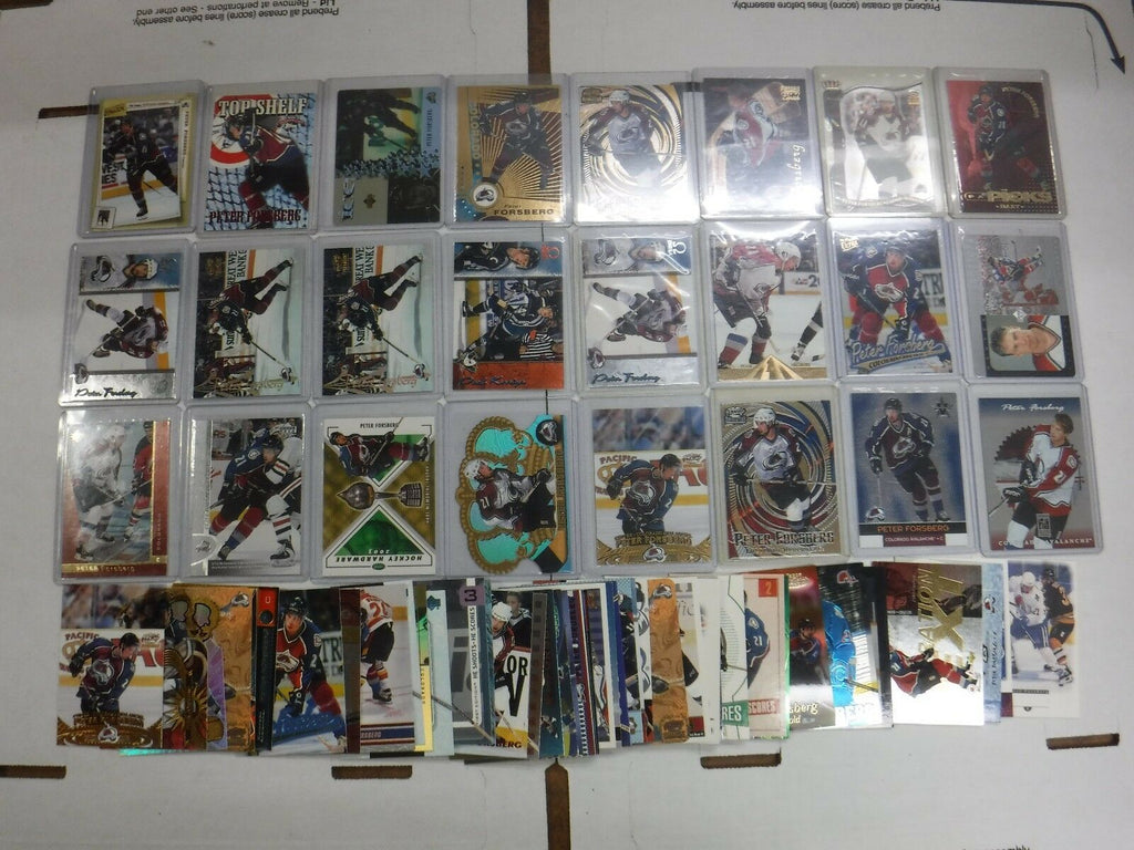Peter Forsberg Lot Of 70 Hockey Cards w/Inserts Avalanche++jhock