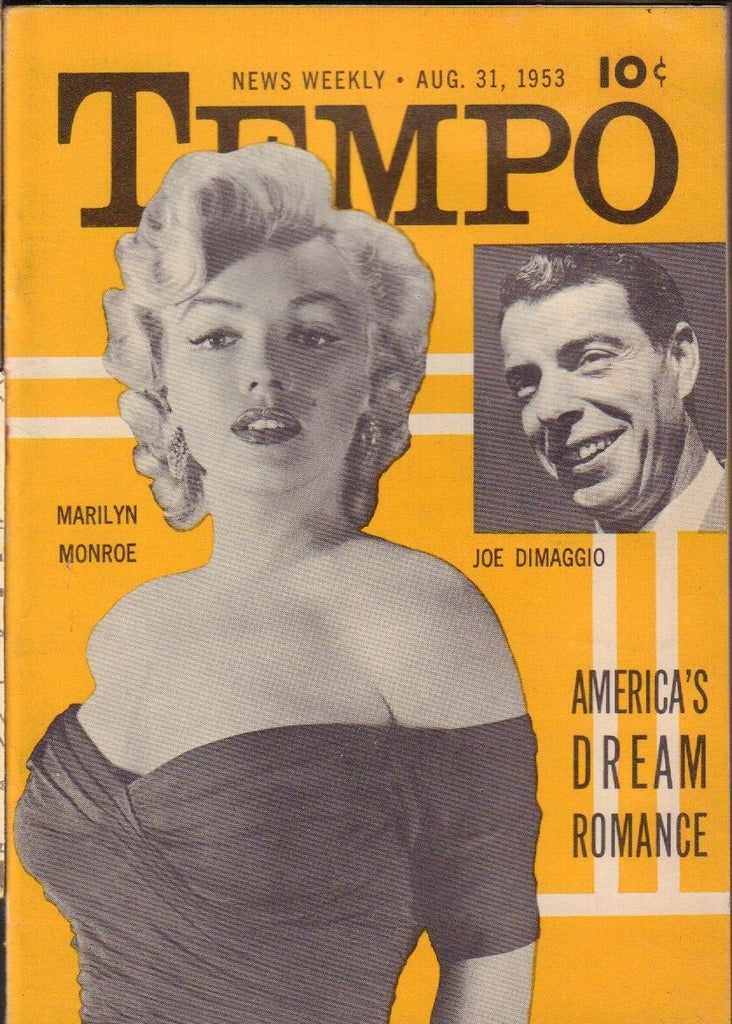 Tempo August 31 1953 Marilyn Monroe DiMaggio Pinup Cheesecake Digest 020519DBC
