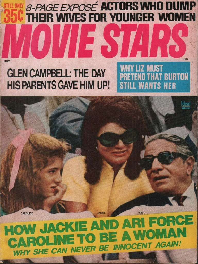 Movie Stars July 1970 Jackie Kennedy Caroline Ari Onassis 062019AME
