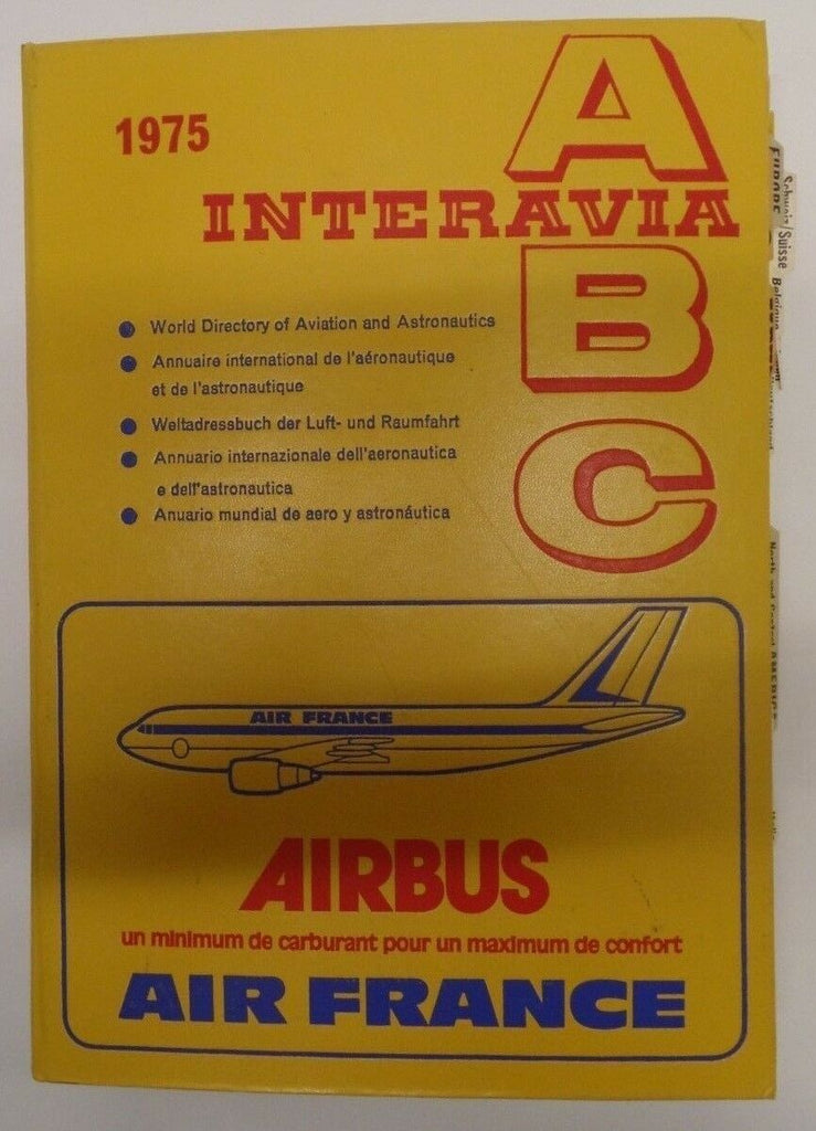 Interavia 1975 ABC World Directory Of Aviation & Astronautics exFAA 092118DBE2