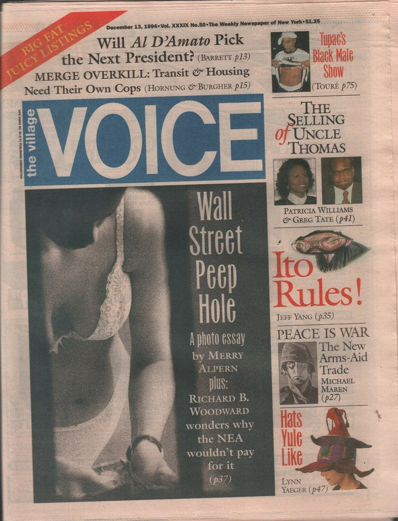 The Village Voice NYC December 13 1994 Tupac Shakur Kurt Cobain 122019AME