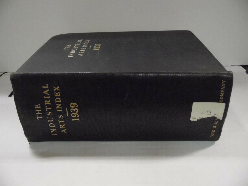 The Industrial Arts Index 1939 Original Rare H.W. Wilson Co Ex-FAA 102518AME6
