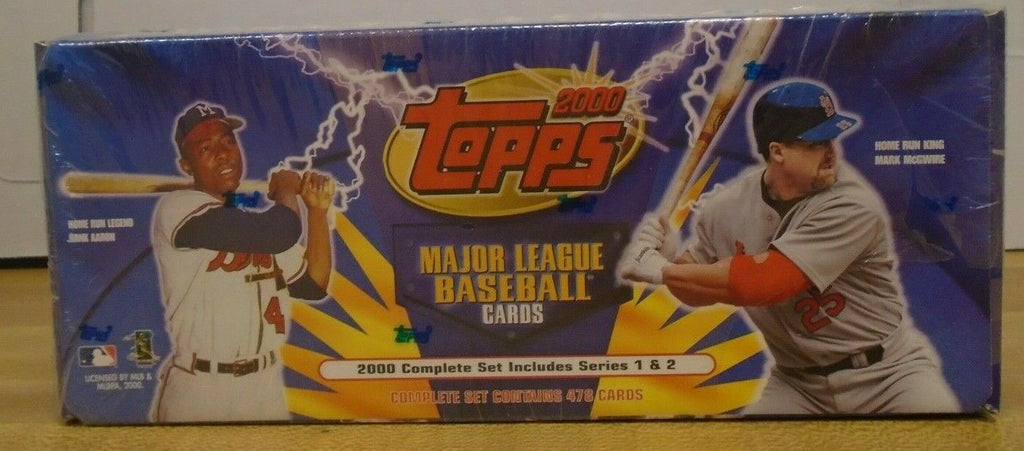 TOPPS 2000 Baseball Complete Factory Set 478 Cards Series 1&2 071519DBT