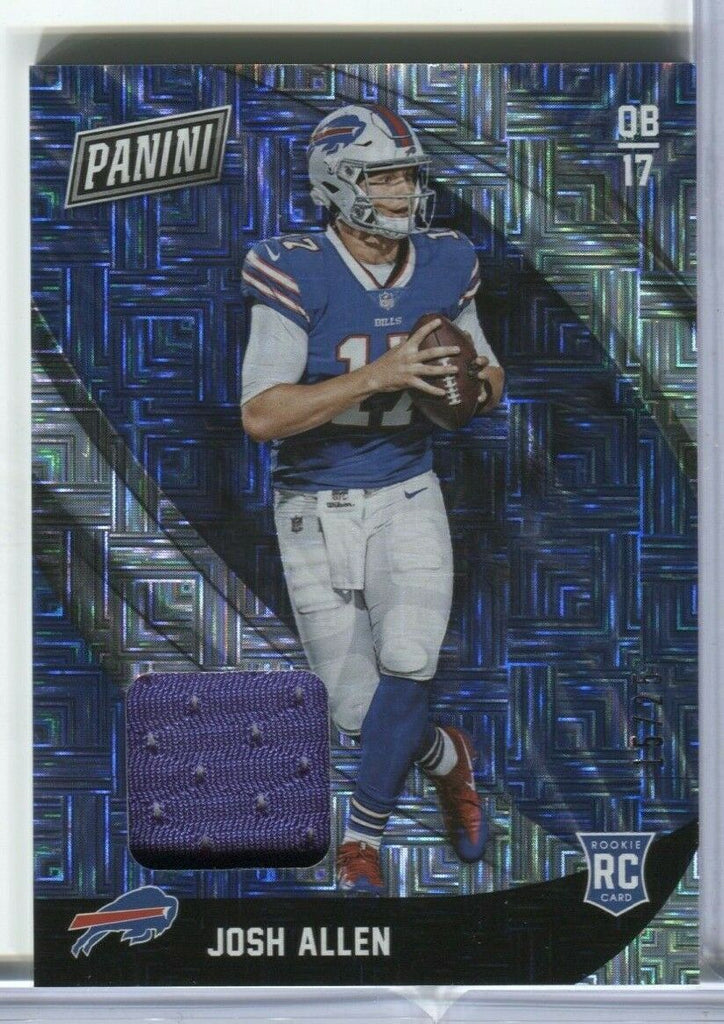 Josh Allen Buffalo Bills RC 15/25 JA Jersey Card Panini 011320DBCD