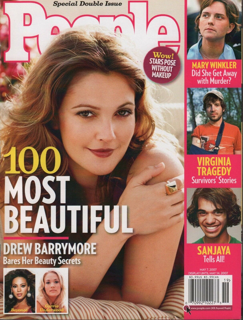 People May 7 2007 Drew Barrymore Beyonce Carrie Underwood 070918DBE