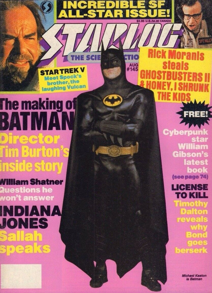 Starlog August 1989 Batman, William Shatner, Indiana Jones 022017nonDBE
