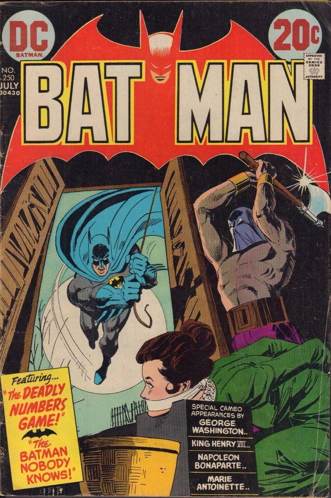 Batman 250 Deadly Numbers Game Classic Bronze Age Cover VG 092816DBC