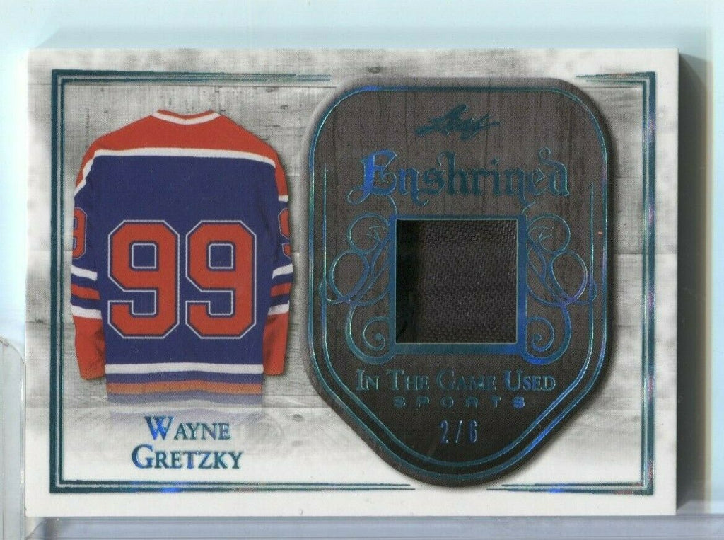 Wayne Gratzky Leaf Enshrined In Game Used Sports Jersey 2/6 E-42 2018 120619DBCD