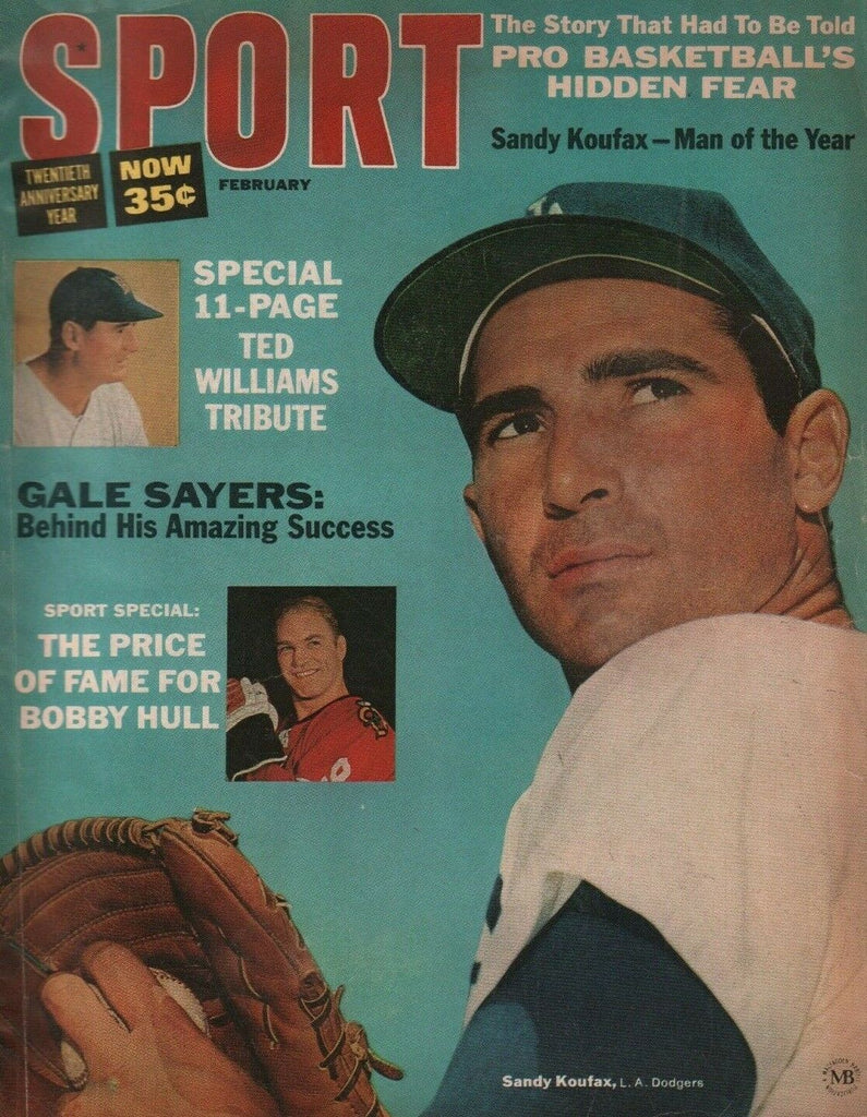 Sport February 1966 Sandy Koufax Gale Sayers Bobby Hull 050719DBE2
