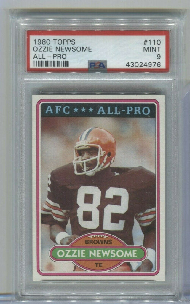 Ozzie Newsome Cleveland Browns All-Pro 1980 Topps #110 PSA 9 120319DBCD