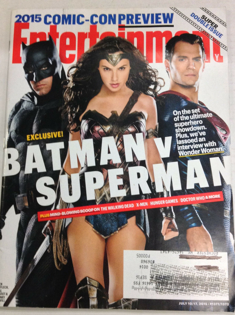 Entertainment Weekly Magazine Batman And Superman July 10/17, 2015 050317nonr