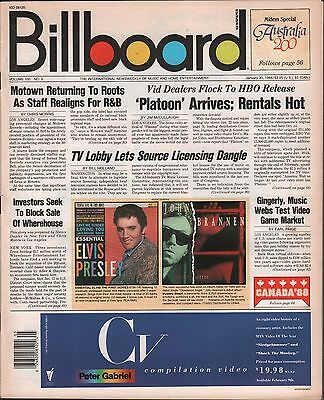 Billboard Vol.100 no.5 January 30 1988 Motown, 'Platoon' EX 122115DBE