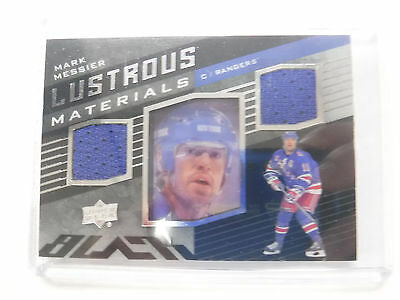 2014-15 UD Black Hockey Lustrous Materials Mark Messier Rangers jh1