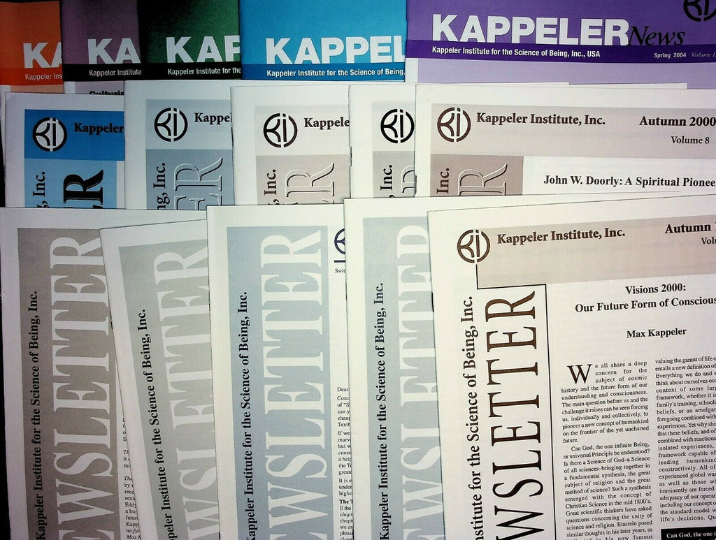 Max Kappeler Institute Newsletter Lot of 15 Issues from 1990s-2000s 021020AME