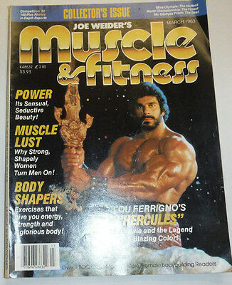 Muscle & Fitness Magazine Lou Ferrigno & Body Shapers March 1983 112114R1