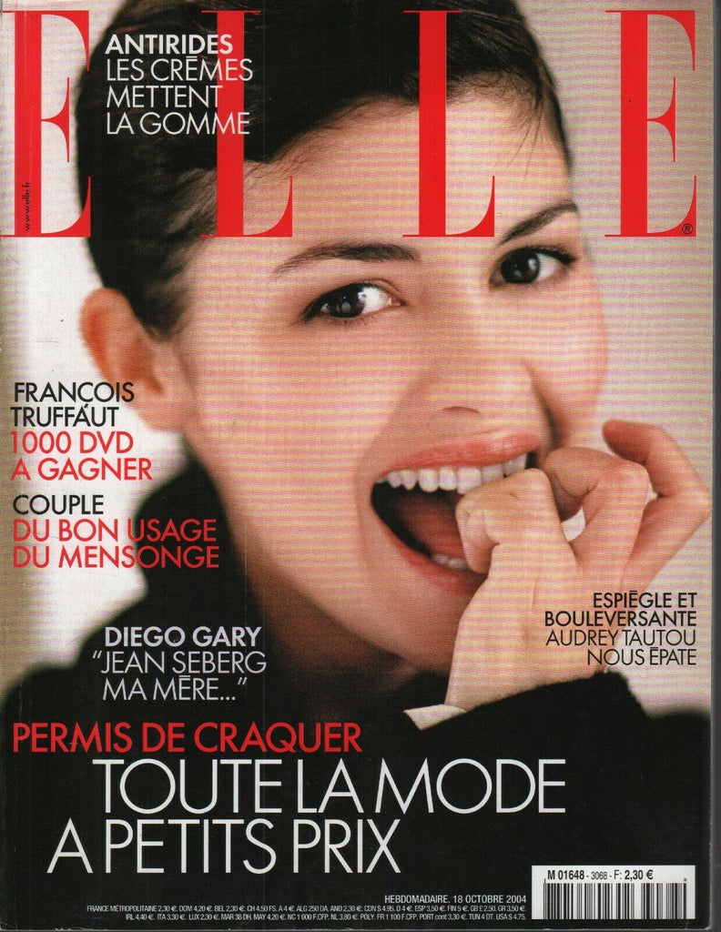 Elle Fench Fashion Magazine 18 Octobre 2004 Diego Gary Audrey Tautou 092719AME