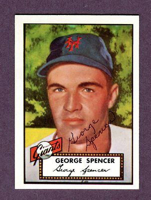 Autographed Signed 1952 Topps Reprint Series #346 George Spencer w/coa jh33