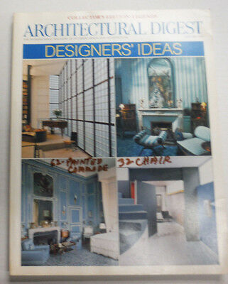 Architectural Digest Magazine Designers' Ideas January 2001 NO ML 070415R