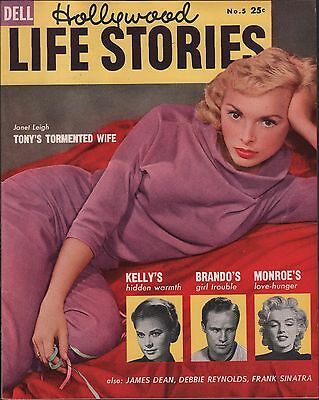 Hollywood Life Stories No.5 1955 Marilyn Monroe, Janet Leigh EX 122215DBE